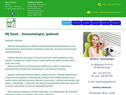 Stomatologia, Warszawa Bemowo - MJ Dent