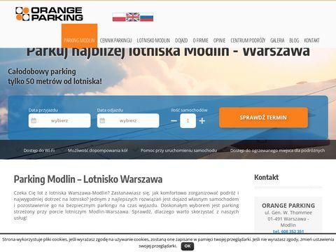 Parking Modlin lotnisko 24h modlinparking.pl