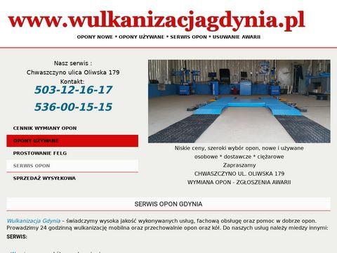 Mobilny24.pl serwis opon Gdynia wulkanizacja 24h