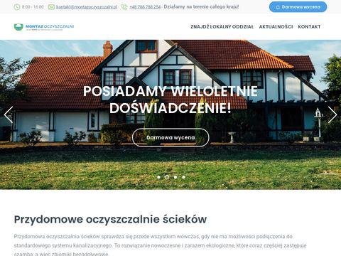Montazoczyszczalni.pl ścieków