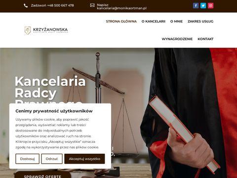 Monikaortman.com.pl kancelaria radcy prawnego