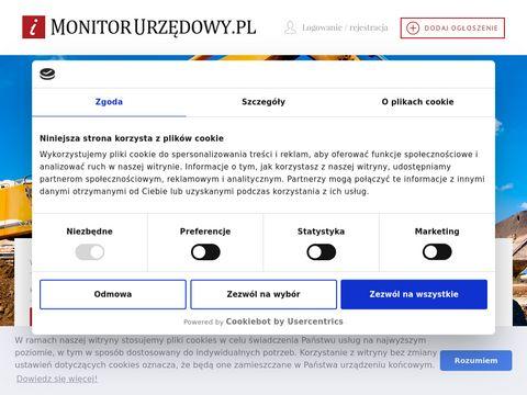 Monitorurzedowy.pl przetargi publiczne