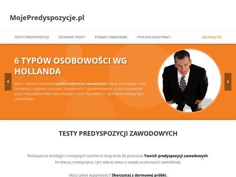 MojePredyspozycje.pl - testy zawodowe