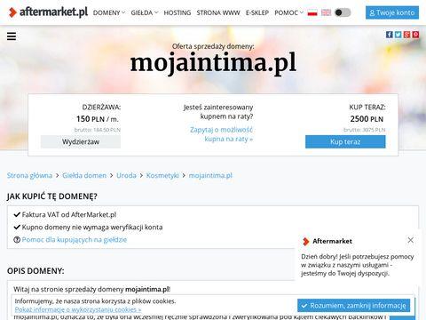 Mojaintima.pl - koniec z dolegliwościami intymnymi