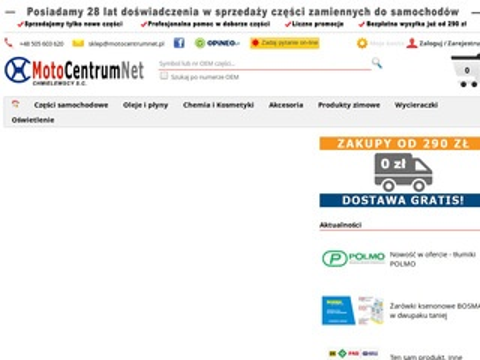 Motocentrumnet.pl auto części sklep internetowy