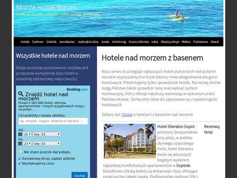 Hotel z basenem nad morzem