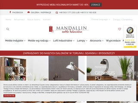 Mandallin - meble i dodatki z litego drewna