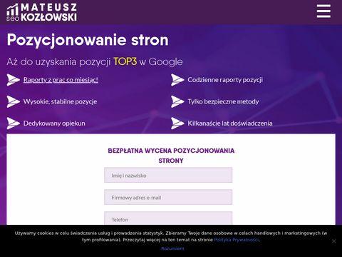 Matt-Kozlowski.com pozycjonowanie Warszawa