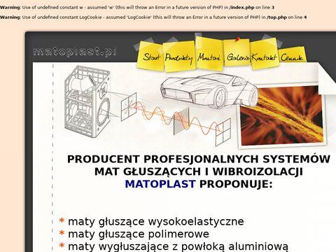 Matoplast.pl - wygłuszanie samochodu