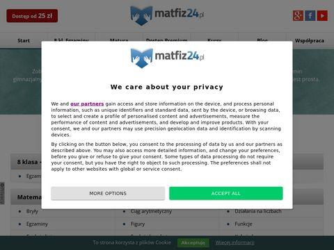 Matfiz24.pl - matematyka w nowoczesnym wydaniu