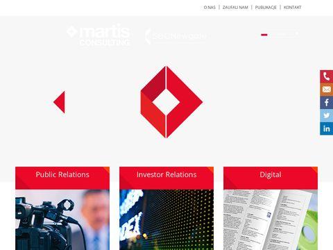 Martis-consulting.pl relacje z mediami finansowymi
