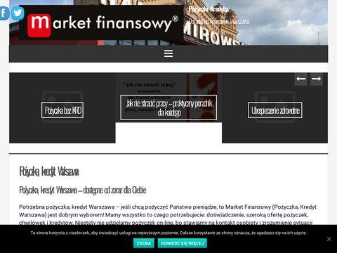 Marketfinanse.pl pożyczki kredyty ubezpieczenia