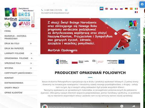Mardrukopakowania.pl na folii opakowania