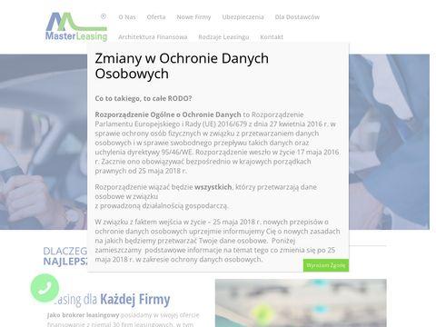 Masterleasing.pl samochodów dostawczych
