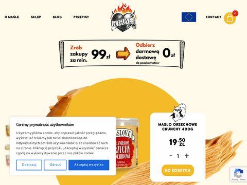 Maslove.pl - dietetyczne masło orzechowe