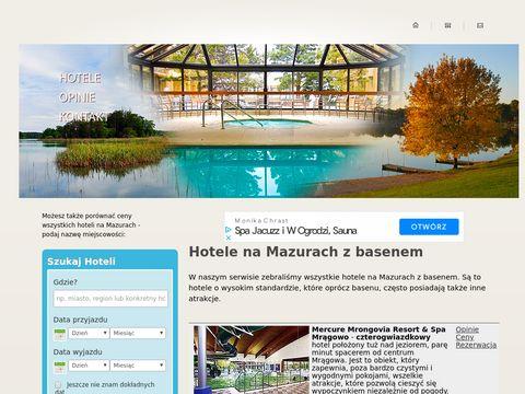 Hotele z basenem na Mazurach