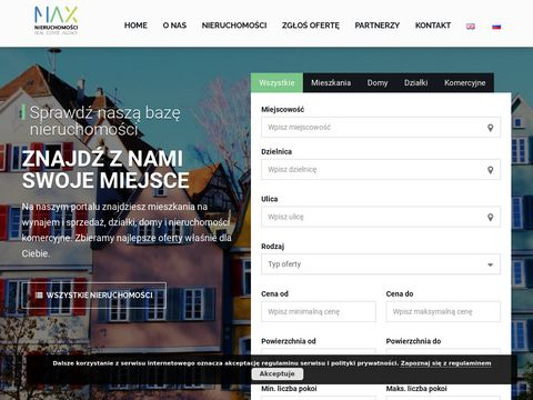 Biuro MAX nieruchomości wynajem domów