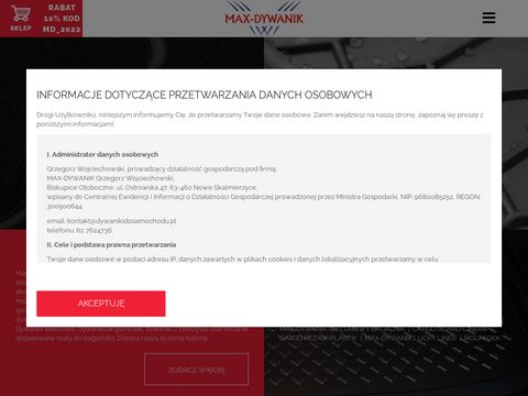 Dystrybutor chodników samochodowych Max-Dywanik