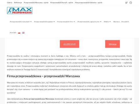 Max-przeprowadzki Warszawa