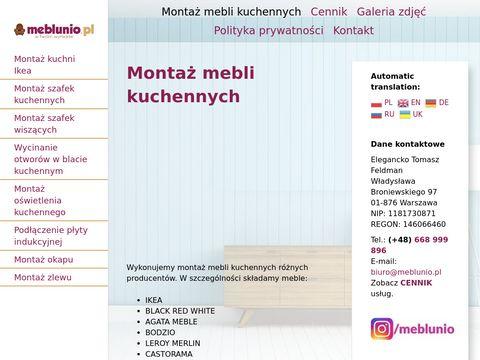 Meblunio.pl montaż kuchni Ikea Warszawa