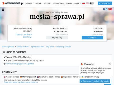 Meska-sprawa.pl portal dla mężczyzn