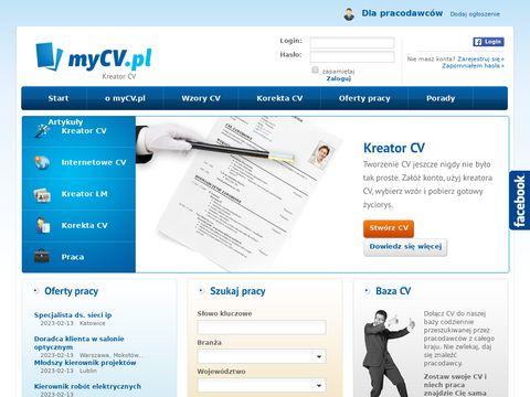 Stwórz CV w MyCV.pl