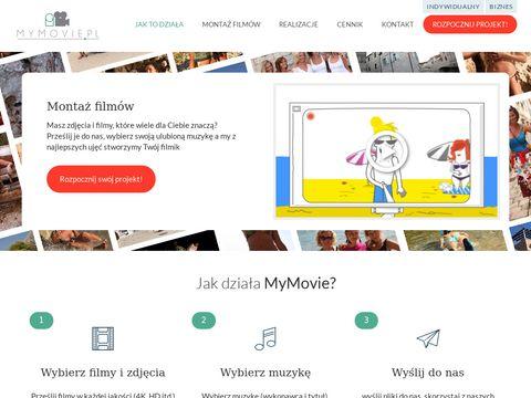 Mymovie.pl mntaż filmów z podkładem muzycznym