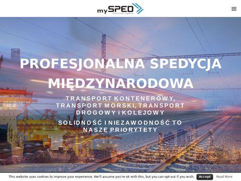 MySPED Transport morski kontenerowy i drobnicowy