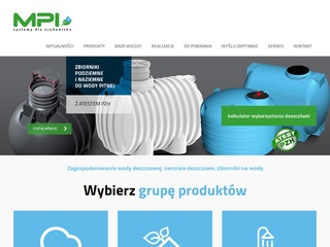 Mpi.com.pl pojemniki na wodę deszczową