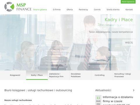 MSP Finance – najlepsze biuro księgowe na rynku