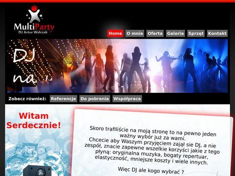 Multiparty.pl Profesjonalny Dj na wesele i imprezy