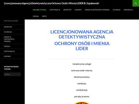 Lider detektyw Warszawa lider-ochrona.pl