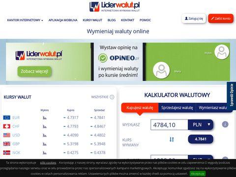 Liderwalut.pl internetowy kantor