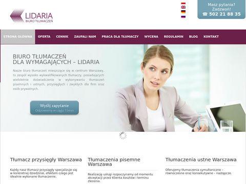 Biuro Tłumaczeń Lidaria