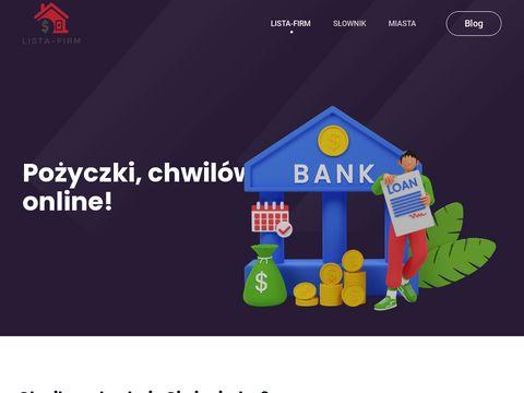 Lista-firm.com.pl szybkie pożyczki przez internet