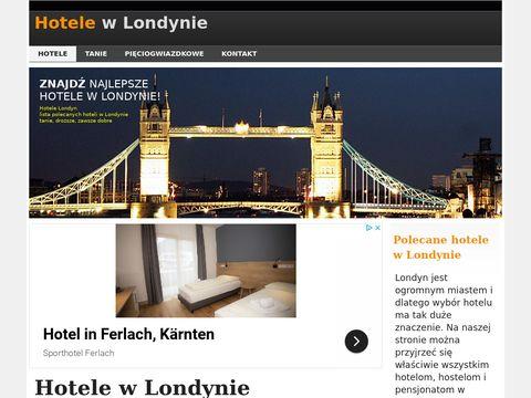 Hotele w Londynie