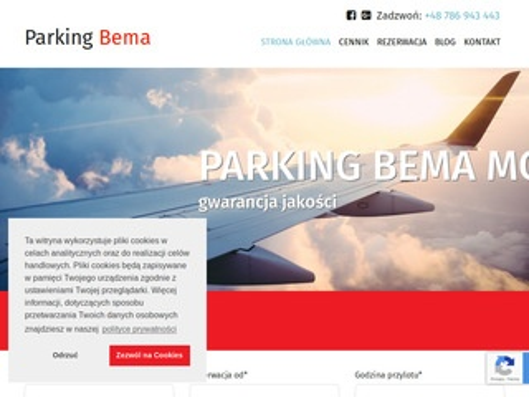 Lotniskomodlin.org parking