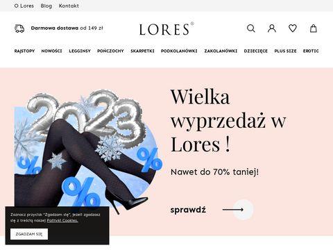 Lores.pl skarpetki kabaretki