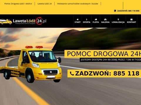 Lawetalodz24.pl - pomoc drogowa 24h