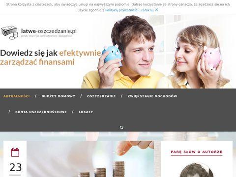 Latwe-oszczedzanie.pl - jak oszczędzać