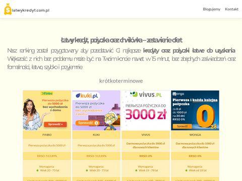 Latwykredyt.com.pl sprawdź pożyczkę