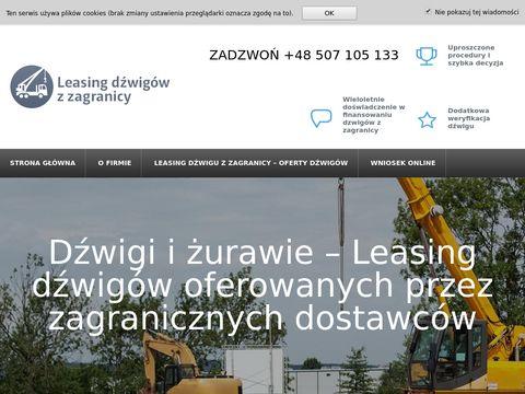 Leasingdzwiguzzagranicy.pl dzwigi
