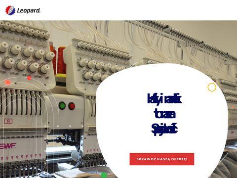 Leopard Piotr Dobrowolski haft komputerowy