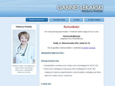 Lekarz-wozniak.pl badania kierowców Łódź
