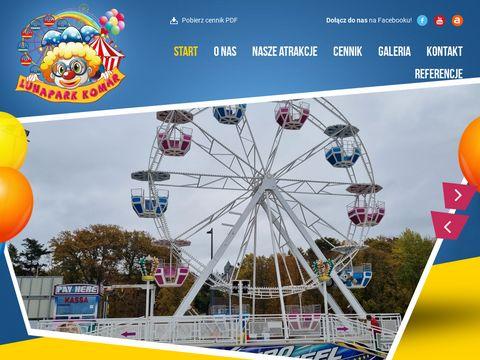 Lunapark-komar.pl atrakcje na eventy festyny