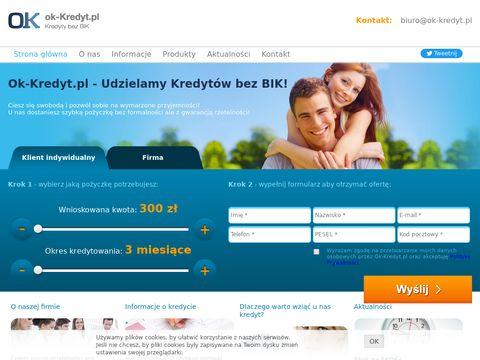 Ok-kredyt.pl kredyt dla firm bez bik