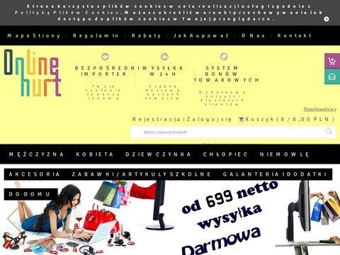Onlinehurt.pl internetowa hurtownia odzieży