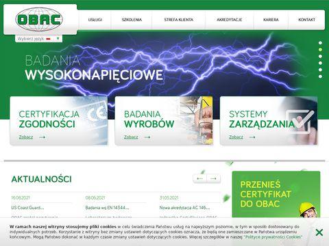 Obac.com.pl certyfikacja wyrobów