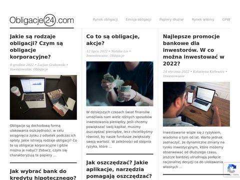 Obligacje24.com gdzie znaleźć dobre obligacje