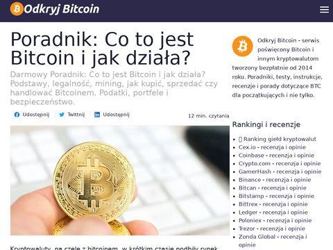 OdkryjBitcoin.pl - serwis informacyjny